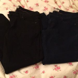 Lot of 2 Old Navy skinny low rise pants size 12